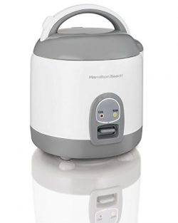 Hamilton Beach Rice Cooker with Rinser/Steam Basket (4 Cups uncooked resulting in 8 Cups cooked) ...