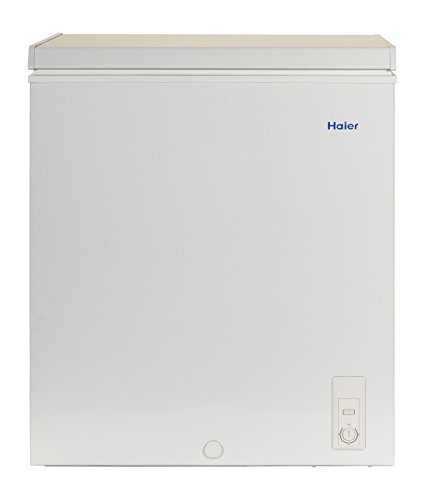Haier hf50cm23nw 5 0 cu ft capacity chest freezer white for 50cm deep kitchen units