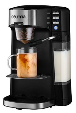 Gourmia GCM6000 6 In 1 Single Serve One Touch Coffee Bar W/ Built-In Milk Frother, Cappuccino, L ...