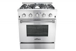 Thor Kitchen HRG3080U 30″ Freestanding Professional Style Gas Range with 4.2 cu. ft. Oven, ...