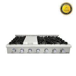 Evakitchen Pro-Style Gas Rangetop with 6 Cooktop, Sealed Performance Burners with Iron Grates, M ...