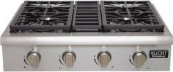Kucht KRT3003ULP Professional Series Gas Rangetop with 4 Sealed Burners Black Porcelain Top Heav ...