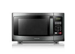 Toshiba EM925A5A-BS Microwave Oven with Sound On/Off and ECO Mode,0.9 Cu.ft. 900W, Black Stainle ...