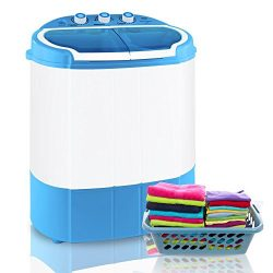 Upgraded Version Pyle Portable Washer & Spin Dryer, Mini Washing Machine, Twin Tubs, Spin Cy ...