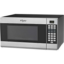 Stainless Steel Microwave Oven – 6 Instant Cooking Settings & 10 Power Levels With A D ...