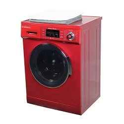 All in one Front Load 1.6 Cu.ft. New Compact Combo Washer Dryer SK 4400 CV Merlot with Optional  ...