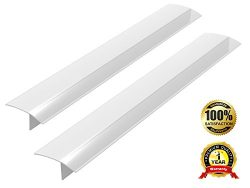 2 Pack Standard 25 Inch Kitchen Stove Gap Filler Cover – Premium Silicone Spill Guard for  ...