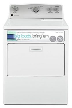 Kenmore 65132 7.0 cu. ft. Electric Dryer with SmartDry Plus Technology in White, includes delive ...