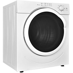 Costway Electric Tumble Dryer Clothes Laundry Dryer Compact Stainless Steel 27lb. Capacity/3.21  ...