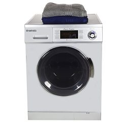 All in one Front Load 1.6 Cu.ft. New Compact Combo Washer Dryer SK 4400 CV Silver with Optional  ...