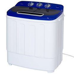 Best Choice Products Portable Compact Mini Twin Tub Washing Machine and Spin Cycle w/ Hose, 13lb ...