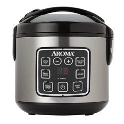 Aroma Housewares ARC-914SBD 8-Cup (Cooked) Digital Cool-Touch Rice Cooker and Food Steamer, Stai ...