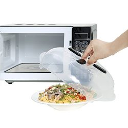 GETIEN Magnetic Microwave Splatter Cover, Microwave Plate Guard Lid With Steam Vent
