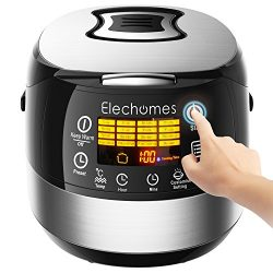 LED Touch Control Electric Rice Cooker – Elechomes CR502 10 Cups(Uncooked) Rice Cooker | 1 ...
