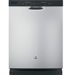 GE GDF510PMJSA 24″ Built In Full Console Dishwasher with 4 Wash Cycles, in Silver