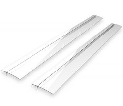 Kohzie Stove Counter Gap Cover – Set of 2 Extra Clear – Stove Gap, Gap cap for stove ...