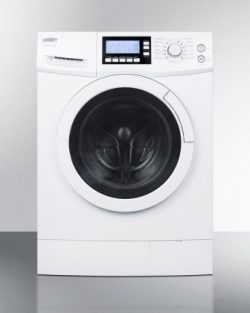 Summit SPWD2200 2.0 cu.ft. 15 lbs Capacity 24″ Front Load Non-Vented Wide Washer/Dryer Com ...