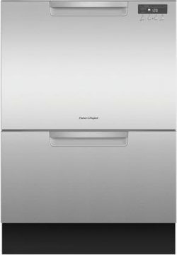 Fisher Paykel DD24DCTX9 24″ Tall Double Drawer DishDrawer Dishwasher with 14 Place Setting ...