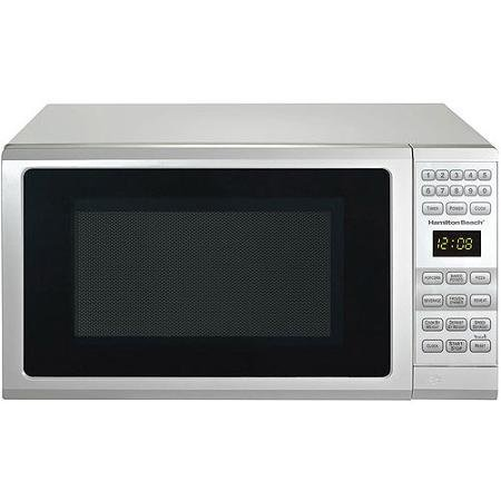 hamilton beach 0 7 cu ft microwave oven features child safe lockout 10 power levels white. Black Bedroom Furniture Sets. Home Design Ideas