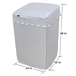 [Mr.You]Thickness Lift Washing Machine Cover For Top-Load Washer/Dryer Waterproof Sunscreen Dust ...