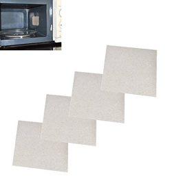 Fashionclubs 4pcs Microwave Oven Repairing Part Mica Plates Sheets 13cm x 13cm