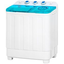 Best Choice Products Mini Twin Tub Portable Compact Washing Machine Spin Dry Cycle- 12lbs Capaci ...