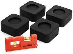 Washer Dryer Shock Absorbing Pads: Non Slip & Noise Reducing Rubber Anti Vibration Pad for W ...