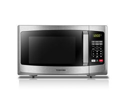 Toshiba EM925A5A-SS Compact Microwave with Sound on/Off Option, 0.9 Cu.ft, Stainless Steel