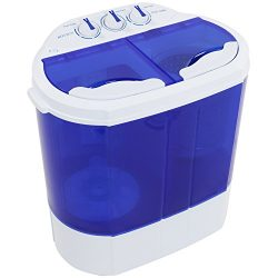 ROVSUN Portable Twin Tub Washing Machine,Electric Compact Washer,13LBS Large Capacity Energy Sav ...