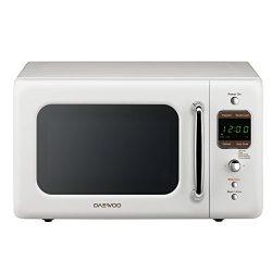 Daewoo KOR-7LREW Retro Microwave Oven 0.7 Cu Ft, Creme White
