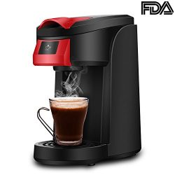 Single Serve Coffee Maker, LDesign One Touch Operation Coffee Machine for Most single cup pods,  ...