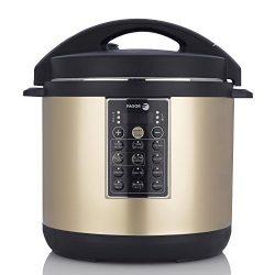 Fagor LUX Multi-Cooker, 6 quart, Electric Pressure Cooker, Slow Cooker, Rice Cooker, Yogurt Make ...