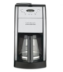 Cuisinart DGB-550BKFR 12 Cup Grind and Brew Automatic Coffee Maker (Certified Refurbished), Chrome