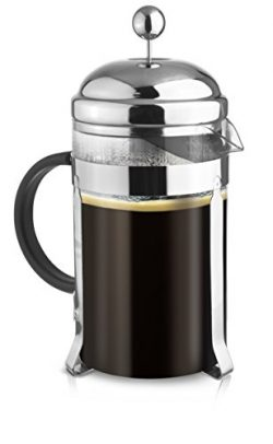 French Press Coffee & Tea Makers 12 Cup (1.5 liter, 51 oz) (Chrome, 1.5L, 51 oz)