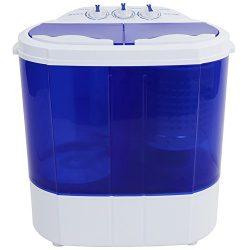 ROVSUN Portable Washing Machine with Twin Tub Electric Compact Mini Washer, 10.4Lbs Capacity Ene ...