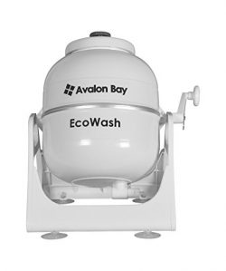 Ecowash Portable Hand Cranked Manual Clothes Non-Electric Washing Machine by Avalon Bay, Counter ...