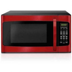 Hamilton Beach 1.1 cu ft, 10 power levels, LED display, 1000W, Microwave oven, Red,10 power leve ...