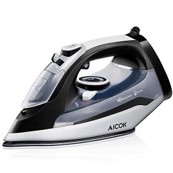 Aicok Steam Iron Professional Garment Steamer with 360° Tangle-Free Cord, 1400W Variable Tempera ...