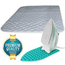 Eutuxia Ironing Blanket, Mat & Silicone Pad Combo. Alternative to Iron Board. Quilted, Breat ...