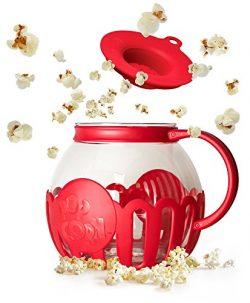 Ecolution Micro-Pop Microwave Popcorn Popper 3QT – Temperature Safe Glass w/Multi Purpose  ...
