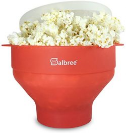 The Original Salbree Microwave Popcorn Popper with Lid, Silicone Popcorn Maker, Collapsible Bowl ...