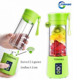 TOWABO USB Juicer Cup, Fruit Mixing Machine, Portable Personal Size Eletric Rechargeable Mixer,  ...