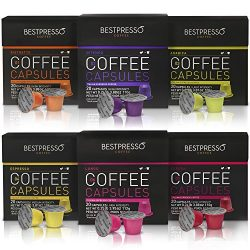 Nespresso Compatible Gourmet Coffee Capsules – 120 Pod Variety Pack – for Original L ...