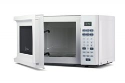 Westinghouse WCM770W 700 Watt Counter Top Microwave Oven, 0.7 Cubic Feet, White Cabinet