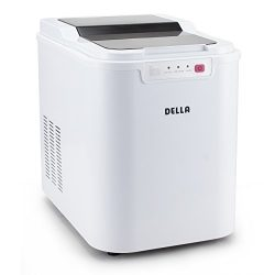 Della Ice Maker Electric Machine Countertop Cube Size Easy-Touch Buttons Yield Up To 26 Pounds o ...