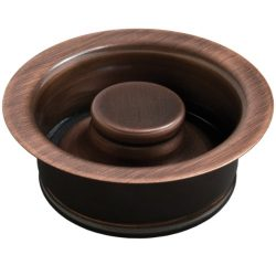 Sinkology TDD35-AC Kitchen Sink Solid Brass ISE Disposal Flange Drain with Stopper in Antique Copper
