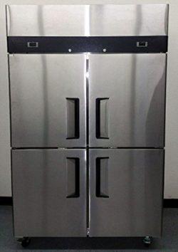48″ 4 Door Refrigerator and Freezer Combo Stainless Steel Reach in Commercial Fridge/Freez ...