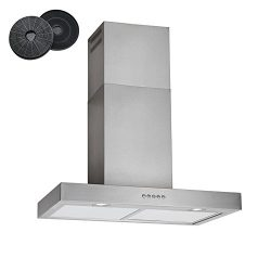 """30"""" Stainless Steel 3 Speeds Wall Mount Europe Kitchen Range Hood Chimney Vent With Carbon Filte ..."""