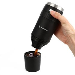 Portable K-Cup Coffee Maker Mini Travel K-Cup Brewer Battery Operated 2AAA Coffee Machine-Ground ...