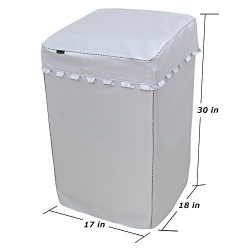 [Mr.You]Washing Machine Cover Waterproof For top-loading washer/dryer protector Fit for portable ...